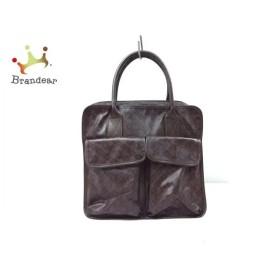 ゲラルディーニ GHERARDINI ハンドバッグ ブラウン×ダークブラウン PVC(塩化ビニール)×レザー   スペシャル特価 20190825