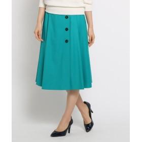 SunaUna(スーナウーナ) 【洗える】ボタンラップ風スカート