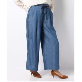 Bou Jeloud 綿テンセルデニム刺繍パンツ(ライトブルー)【返品不可商品】
