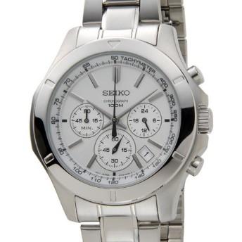 セイコー SEIKO SSB099P1 クロノグラフ ディスプレイ クォーツ シルバー メンズ 腕時計 ブランド