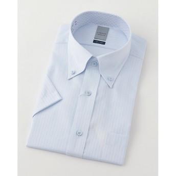 【SALE(三越)】<LORDSON/ロードソン> 半袖色ドビーワイシャツ(ZON613-250)(MO019N0MO00000GIP) 250スカイブルー 【三越・伊勢丹/公式】