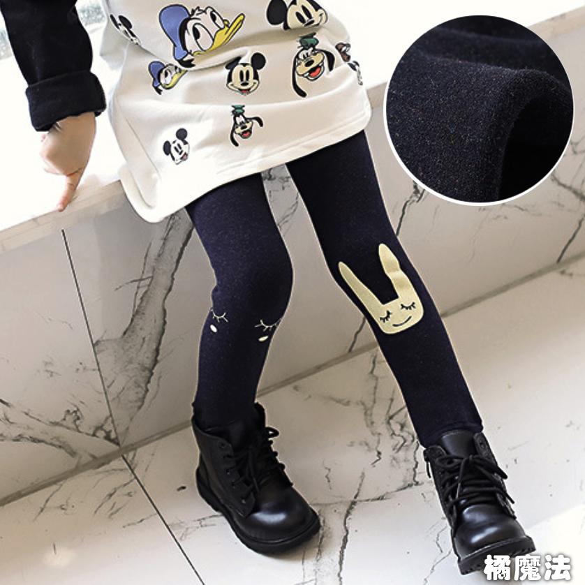 刷毛彈性踩腳褲襪內搭褲 長褲 橘魔法 Baby magic 現貨 兒童 女童褲 童裝 童褲【p0061177593915】