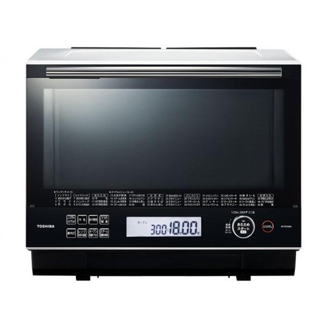 東芝 石窯ドーム ER-PD3000(W) グランホワイト【電子レンジ・オーブンレンジ】