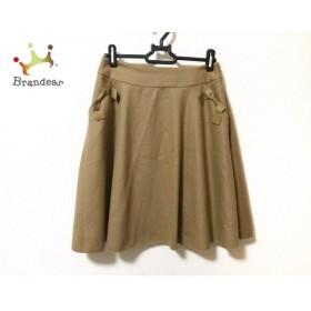 トゥービーシック TO BE CHIC スカート サイズ38 M レディース 美品 ブラウン リボン   スペシャル特価 20191004