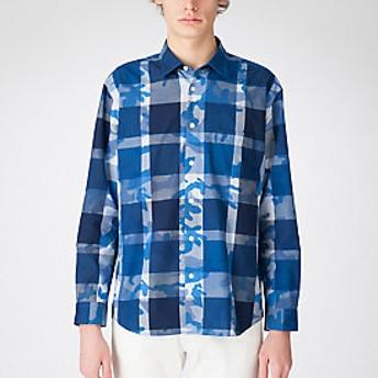 【Crestbridge 】カモフラージュクレストブリッジチェックシャツ