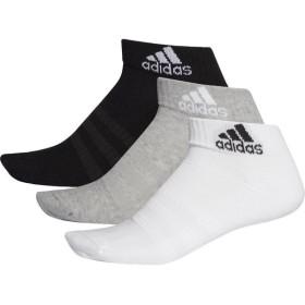 adidas(アディダス) パフォーマンス3Pショートソックス FXI63 DZ9364 Mグレイヘザー/WH L