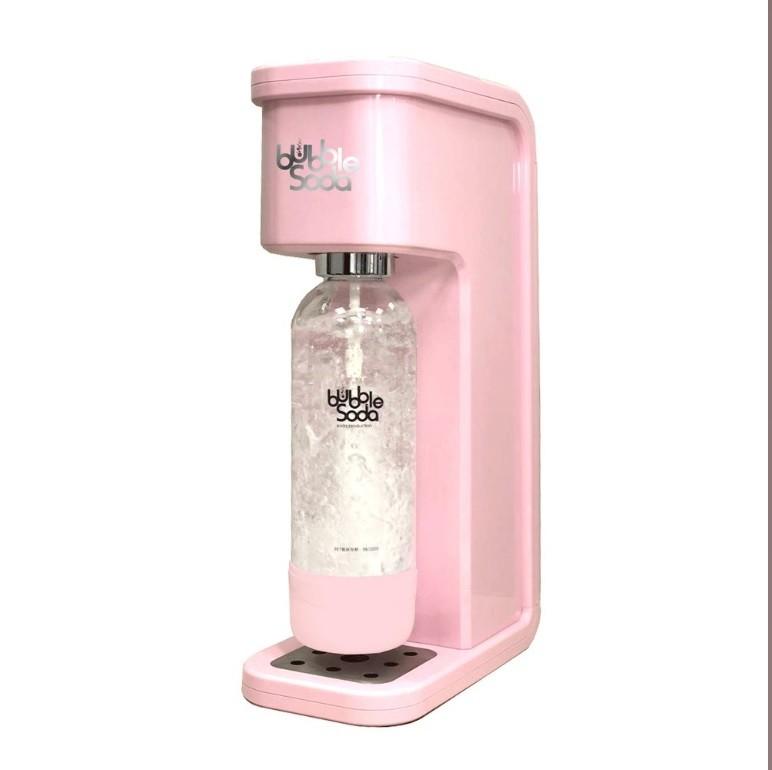 法國 BubbleSoda 全自動氣泡水機 花漾粉BS-304