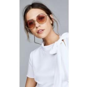 クロエ Chloe レディース メガネ・サングラス Tally Round Scalloped Sunglasses Havana Sand/Rose Grad