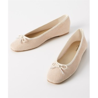 スクエアトゥコーデュロイバレエシューズ シューズ(フラットシューズ) Shoes