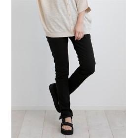 ウエストゴムツイルスキニーパンツ (レディースパンツ),pants