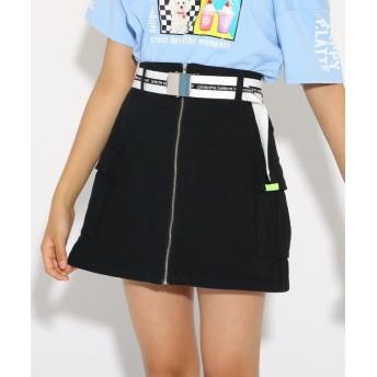 PINK-latte(ピンク ラテ) ★ニコラ掲載★カーゴポケベルト付 スカート