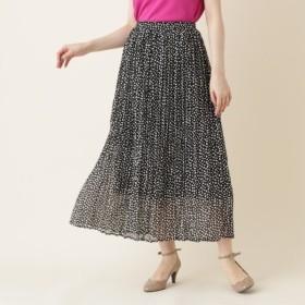 [マルイ]【セール】【WEB限定販売手洗い可】INNOWAVE(イノウェーブ)変形ドットシフォンプリーツロングスカート/クチュールブローチ(Couture Brooch)