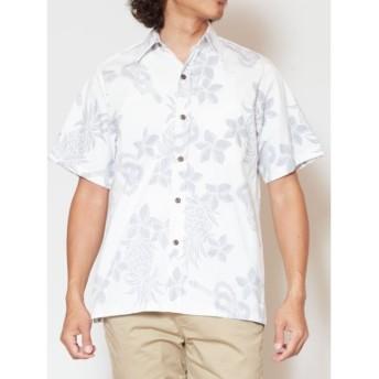 [マルイ] 【Kahiko】TWO PALMS ハワイアンプリントMEN'Sアロハシャツ/チャイハネ(CAYHANE)