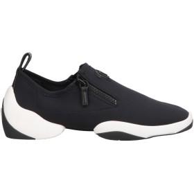 《セール開催中》GIUSEPPE ZANOTTI メンズ スニーカー&テニスシューズ(ローカット) ブラック 39 紡績繊維