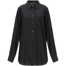 《期間限定セール開催中!》HACHE レディース シャツ ブラック 44 コットン 100%