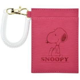 (RUNNER/ランナー)SNOOPY スヌーピー パスケース カードケース ICカードケース/ユニセックス ピンク