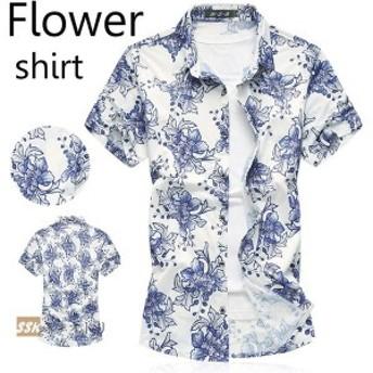 アロハシャツ 花柄シャツ カジュアルシャツ シャツ メンズ 半袖シャツ メンズシャツ 花柄 アロハ レーヨン 夏