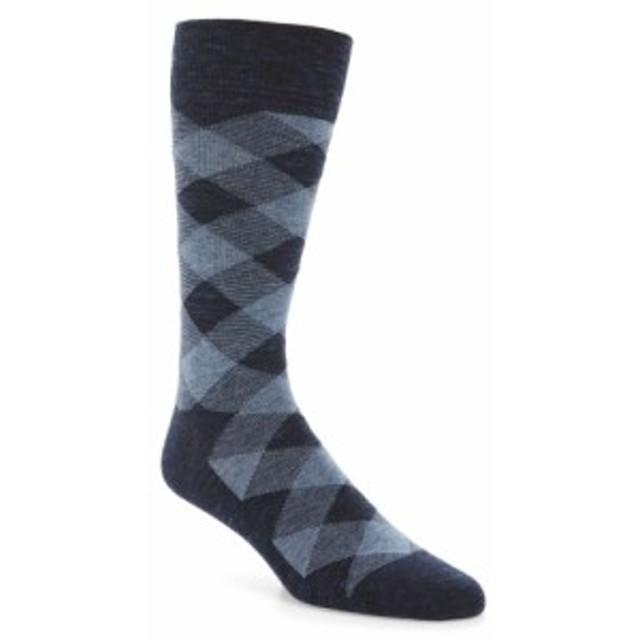 コールハーン メンズ スニーカー シューズ Cole Haan Twist Plaid Socks (3 for $30) Navy