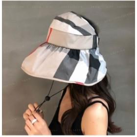 レディース 紫外線対策 折りたたみ帽子 あご紐付き 小顔効果抜群 UVカット 日よけ帽子 UV 帽子 折りたたみ