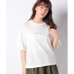 (WEGO/ウィゴー)WEGO/チュールフリルロゴTシャツ/レディース ホワイト系