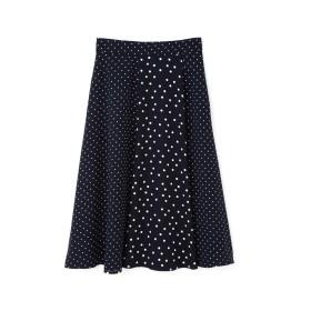 NATURAL BEAUTY BASIC ミックスドットプリントスカート