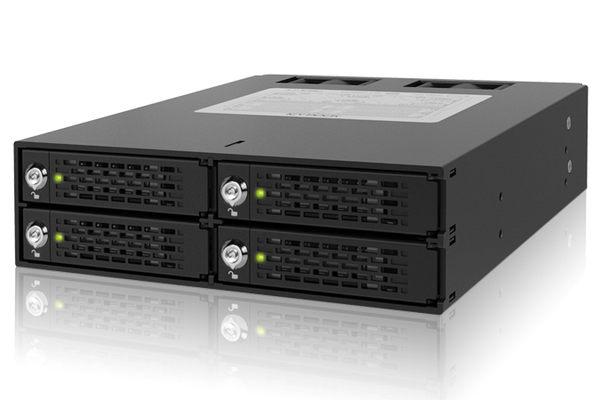 """[富廉網] ICY DOCK ToughArmor MB994SK-1B 四層 2.5"""" SATA/SAS HDD/SSD 鑰匙鎖 硬碟抽取盒"""
