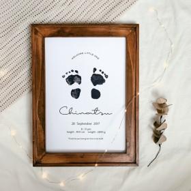 手形足形ポスター 命名書 新生児サイズ