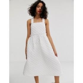 エイソス レディース ワンピース トップス ASOS WHITE volume tiered dress Multi