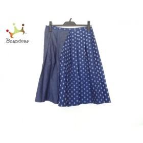 ニコ(ニコルソンアンドニコルソン) スカート サイズ38 M レディース 美品 ネイビー×白   スペシャル特価 20191003
