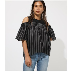 【60%OFF】 アズールバイマウジー OFF SHOULDER DOCKING TOPS レディース 柄BLK5 M 【AZUL BY MOUSSY】 【セール開催中】