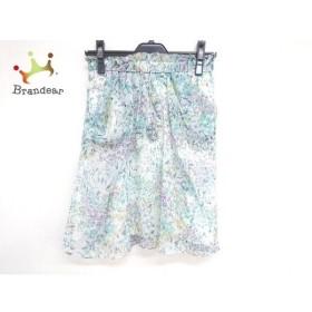ジャスグリッティー JUSGLITTY スカート サイズ1 S レディース 白×ブルー×マルチ 花柄   スペシャル特価 20191003