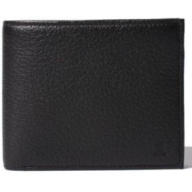 (THE BAGMANIA/バッグマニア)DEER SKIN 小銭入れつき折り財布/メンズ ブラック