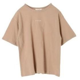 グリーンパークス Green Parks ちびロゴ刺繍ビッグTシャツ (Beige)