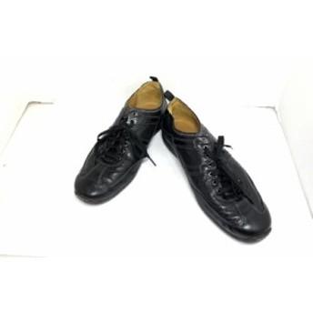 コールハーン COLE HAAN スニーカー 9.5 メンズ 黒 NIKE AIR レザー【中古】20190626