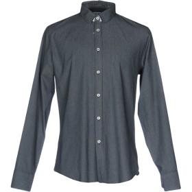 《期間限定セール開催中!》BIKKEMBERGS メンズ シャツ ダークブルー S コットン 98% / ポリウレタン 2%