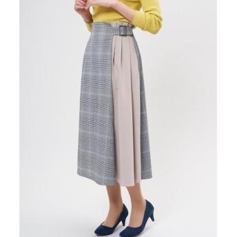 CLEAR IMPRESSION / クリアインプレッション グレンチェック柄切り替えスカート