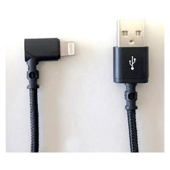 ウイルコム MFIライトニング充電通信ケーブル L字タイプ 1m(ブラック) ICU-L100L-A1BK 返品種別A