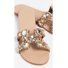 ミスティック Mystique レディース サンダル・ミュール シューズ・靴 Jewel Slides Camel/Clear