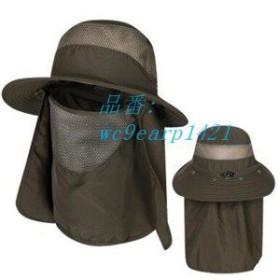 サンバイザー メンズ レディース 遮光 日焼け止め 帽子 ハット 通気性 紫外線対策用 フェイスカバー 釣り UVカット帽子 農作業 アウトド