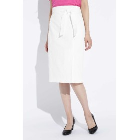 50%OFF BOSCH (ボッシュ) 麻混オックスラップ調スカート ホワイト(030)