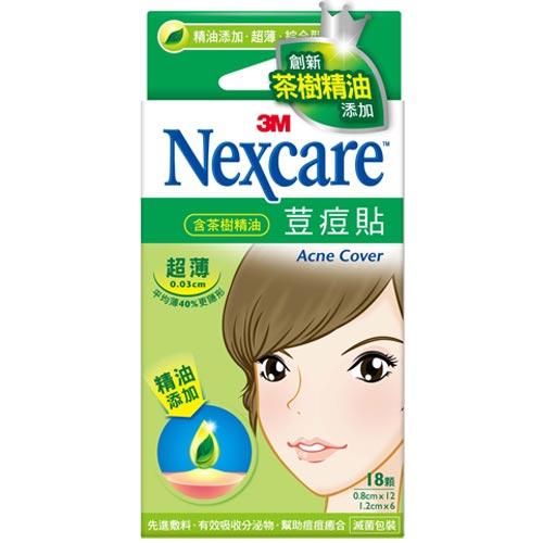 3M Nexcare 荳痘貼 茶樹精油 超薄綜合型 18入