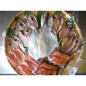 伊豆直送金目鯛味噌漬6切、煮付4切、干物あじ5尾、エボ鯛5尾、イカ一夜干2尾詰め合わせ(B2)