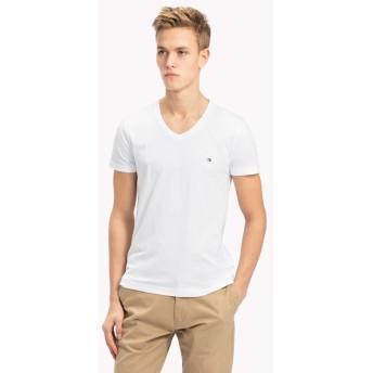 トミーヒルフィガー ベーシックVネックTシャツ メンズ ホワイト L 【TOMMY HILFIGER】