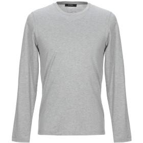 《期間限定セール開催中!》ALPHA STUDIO メンズ T シャツ ライトグレー 46 コットン 100%