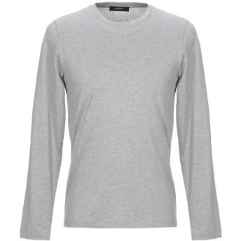 《セール開催中》ALPHA STUDIO メンズ T シャツ ライトグレー 52 コットン 100%