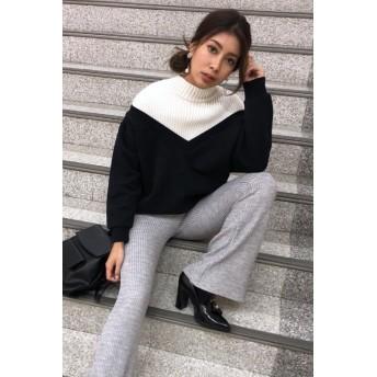 ニット・セーター - EGOIST ドッキング裏毛TOP
