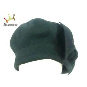トゥービーシック TO BE CHIC 帽子 美品 黒 リボン ウール 新着 20190627