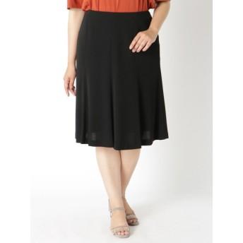 【大きいサイズレディース】【L-7L】【日本製】ブラックフォーマル8枚ハギスカート スカート 膝丈スカート