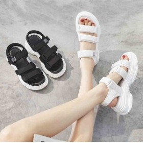 2019夏新作サンダル レディース 靴 女性 大人 普段履き 通気 動きやすい 涼しい 軽量 2カラー 大きいサイズ サンダル