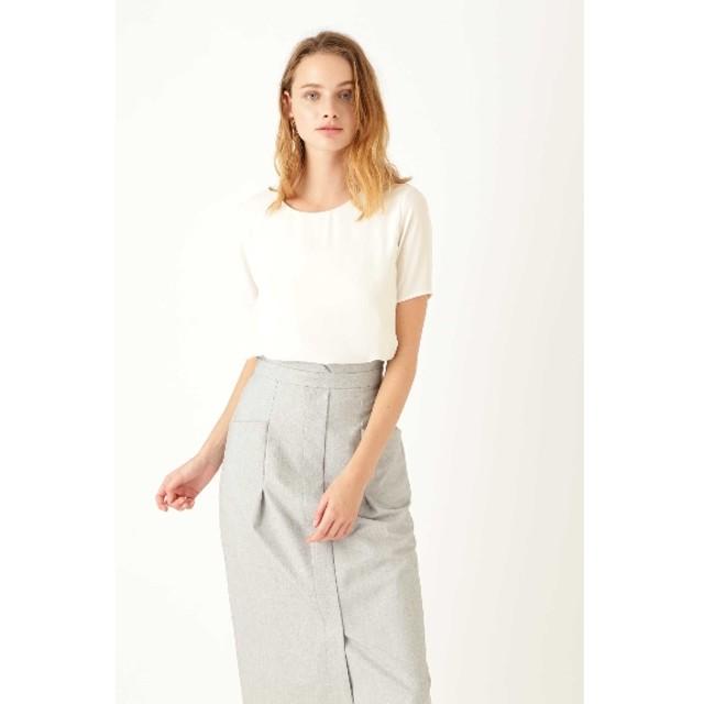 40%OFF JILLSTUART (ジルスチュアート) 《Endy ROBE》ダブルTシャツ OFF WHITE(030)